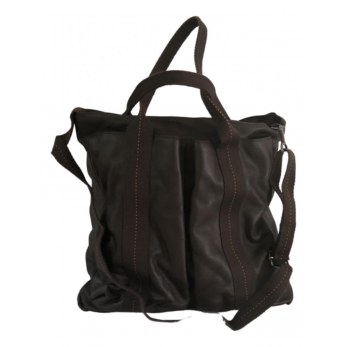 Hermès \N Brown Leather bag for Men \N