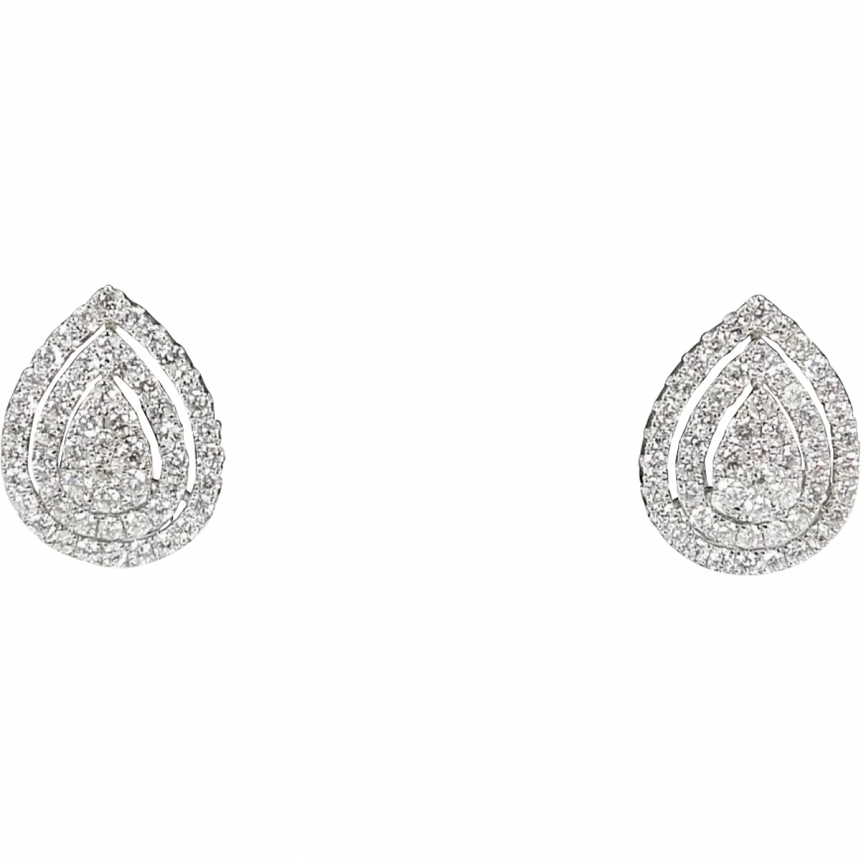 Non Signé / Unsigned \N White White gold Earrings for Women \N