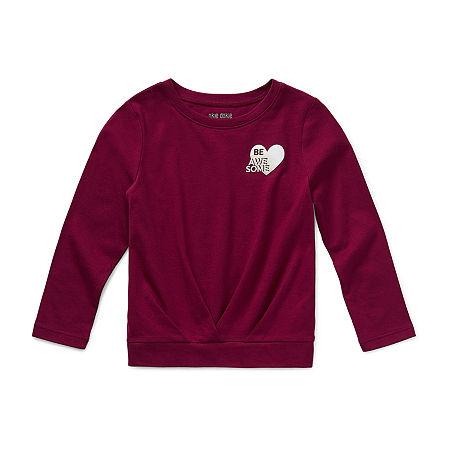 Okie Dokie Little Girls Long Sleeve T-Shirt, 6x , Red