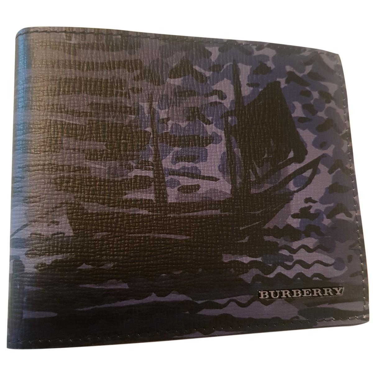 Burberry - Petite maroquinerie   pour homme en cuir - bleu