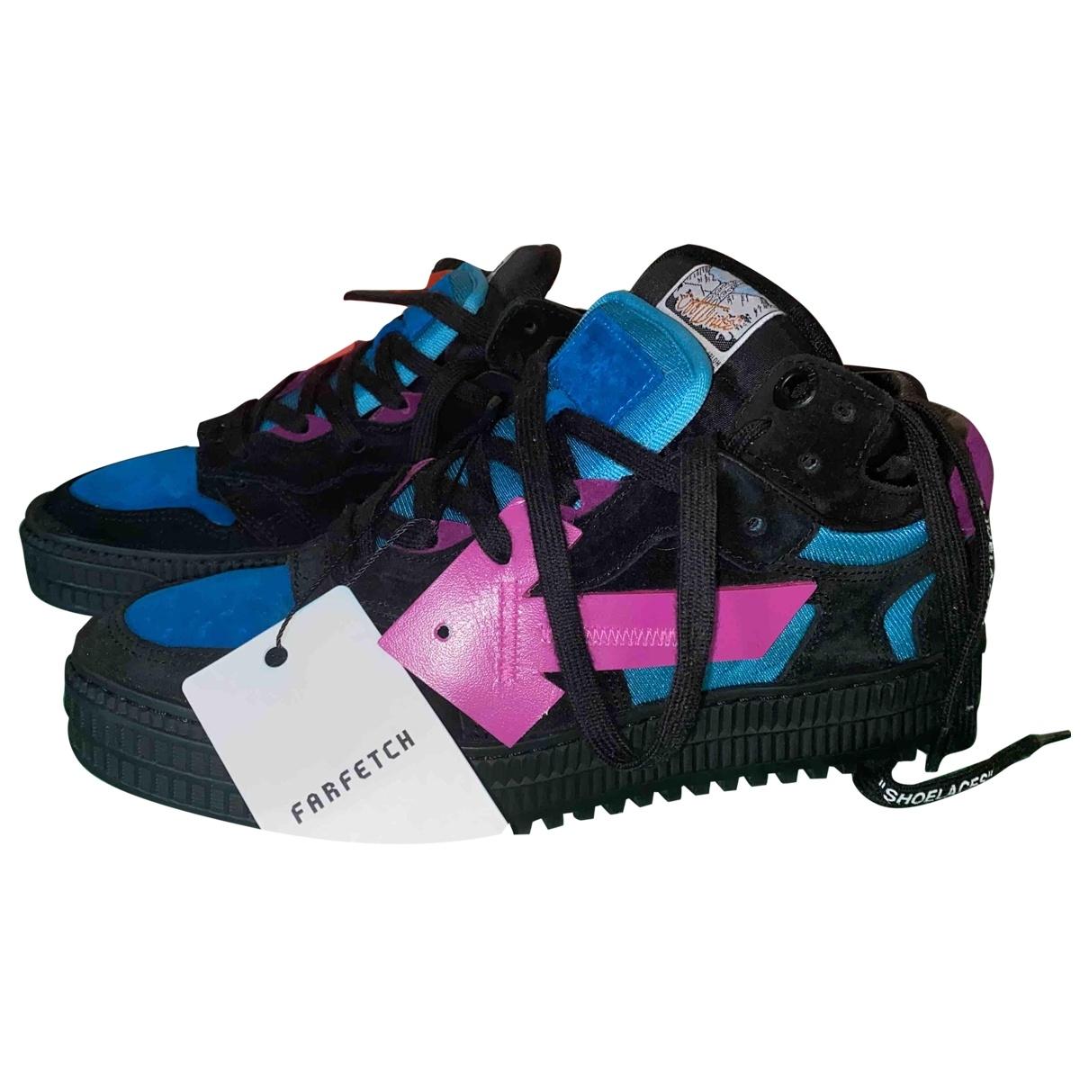Off-white \N Sneakers in  Schwarz Veloursleder