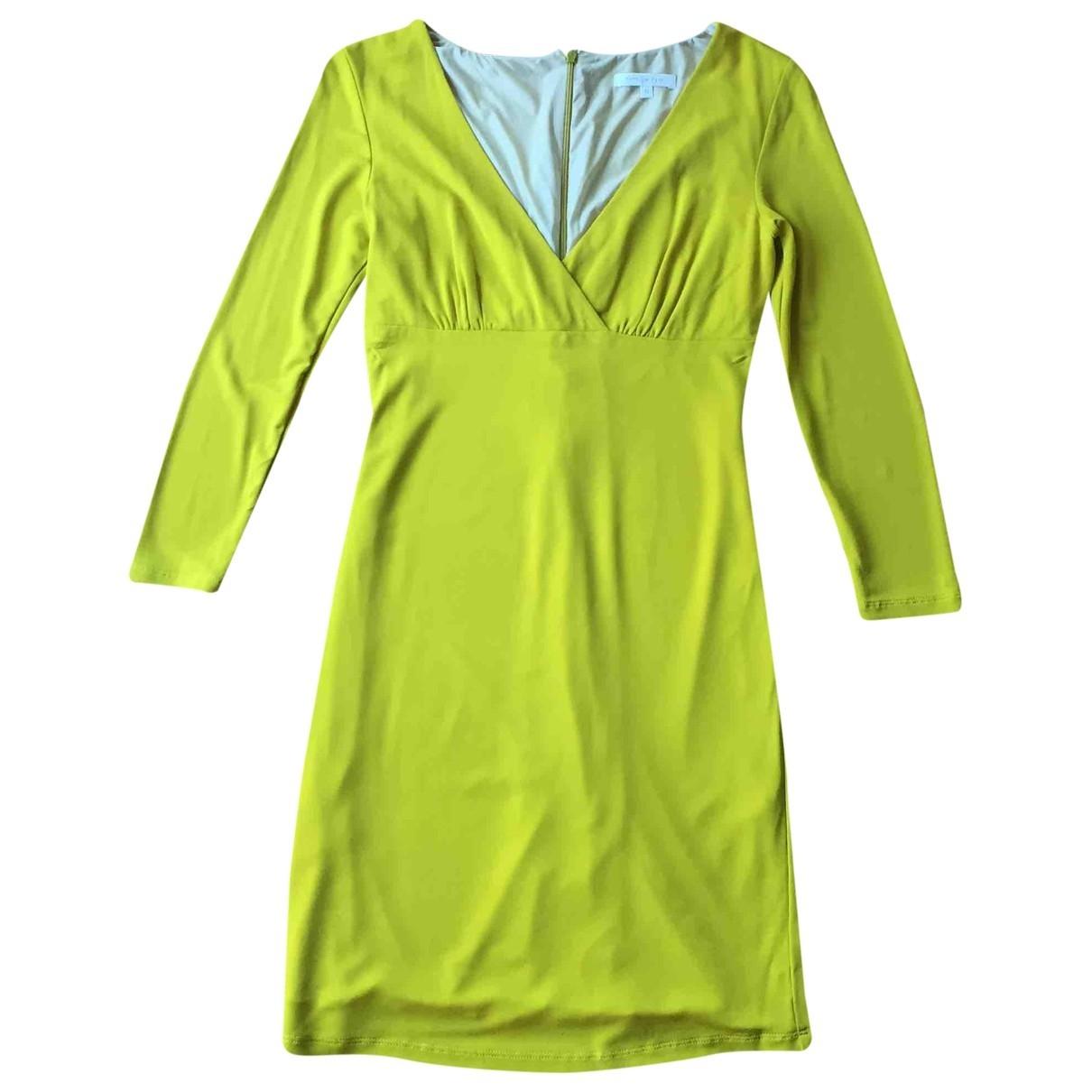Patrizia Pepe \N Kleid in  Gelb Viskose