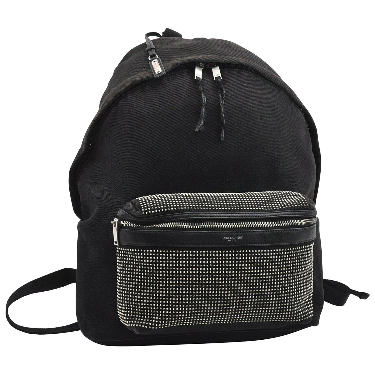 Yves Saint Laurent N Black Cloth backpack for Women N