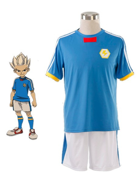 Milanoo Inazuma Eleven Cosplay Japan Soccer Team Jersey White Blue Cosplay Costume