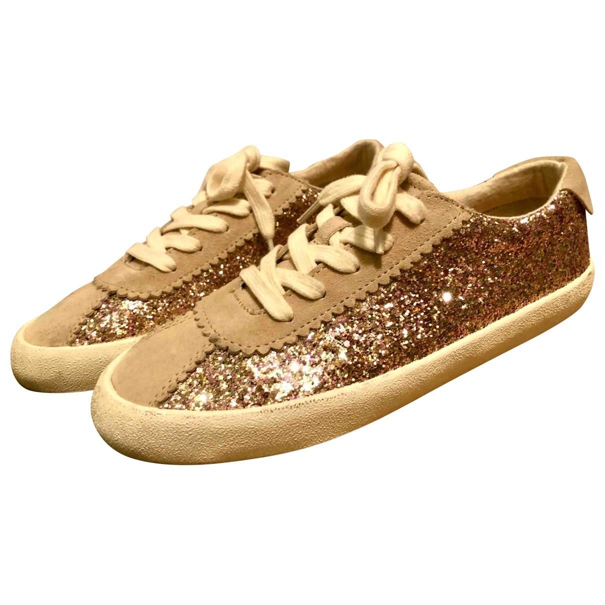 Zara \N Sneakers in  Rosa Leder