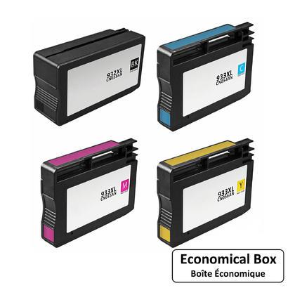 Compatible HP 932XL 933XL cartouche d'encre combo haute capacite BK/C/M/Y - boite economique