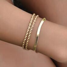 3 Stuecke Metallisches Armband mit Twist