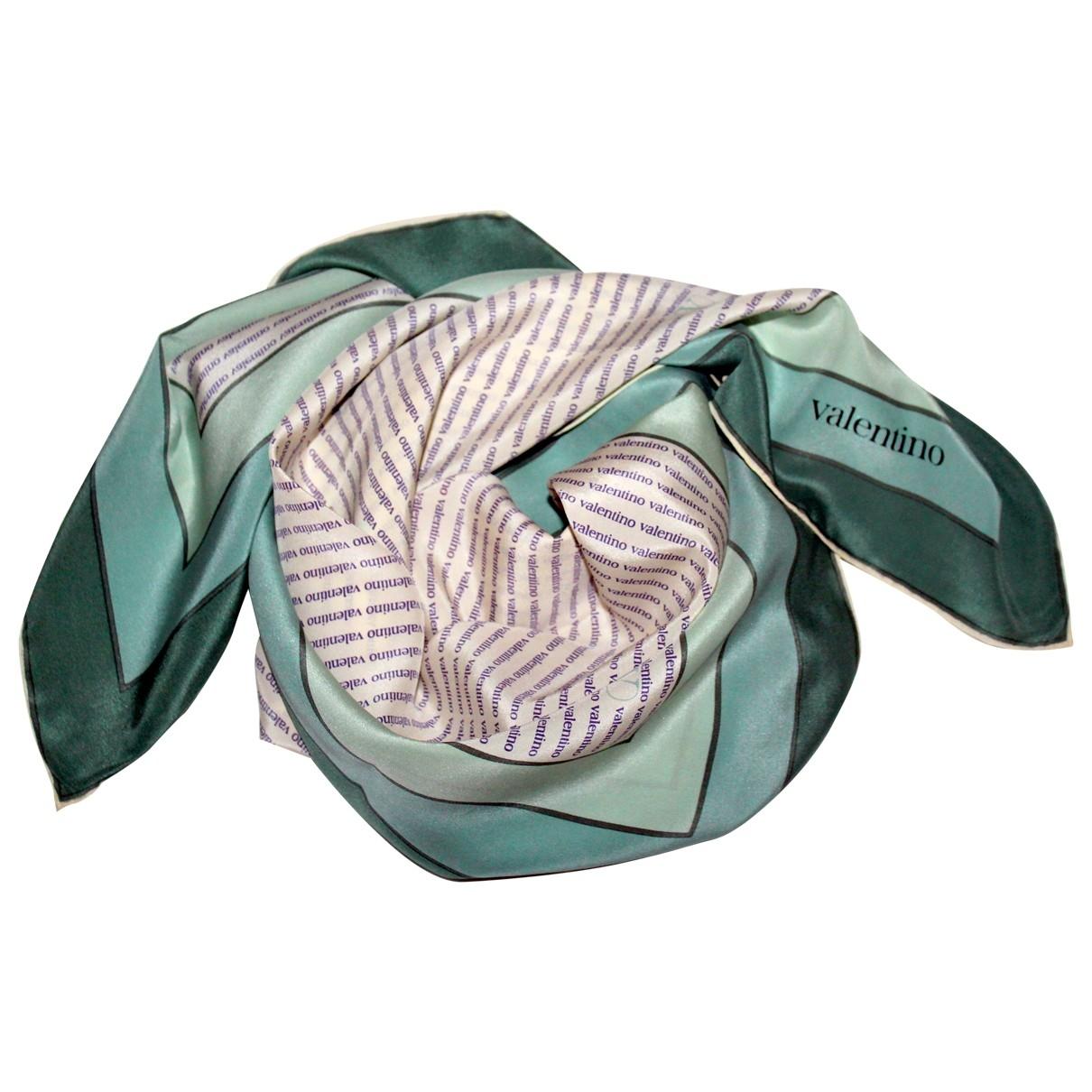 Valentino Garavani - Foulard   pour femme en soie - blanc