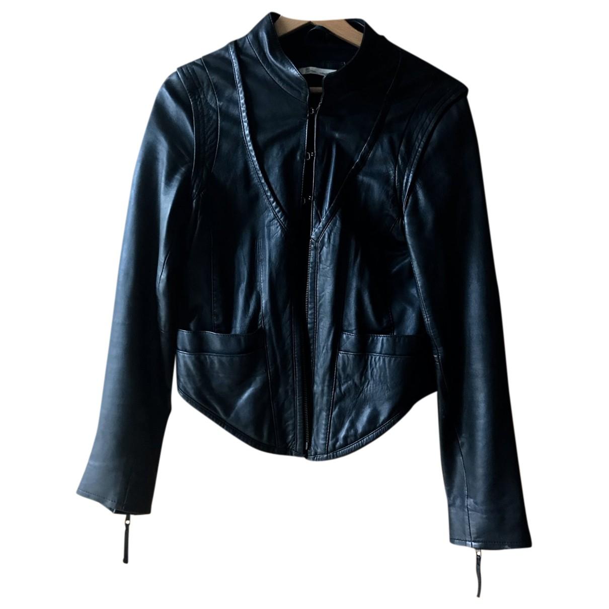 Les Petites N Black Leather Leather jacket for Women M International