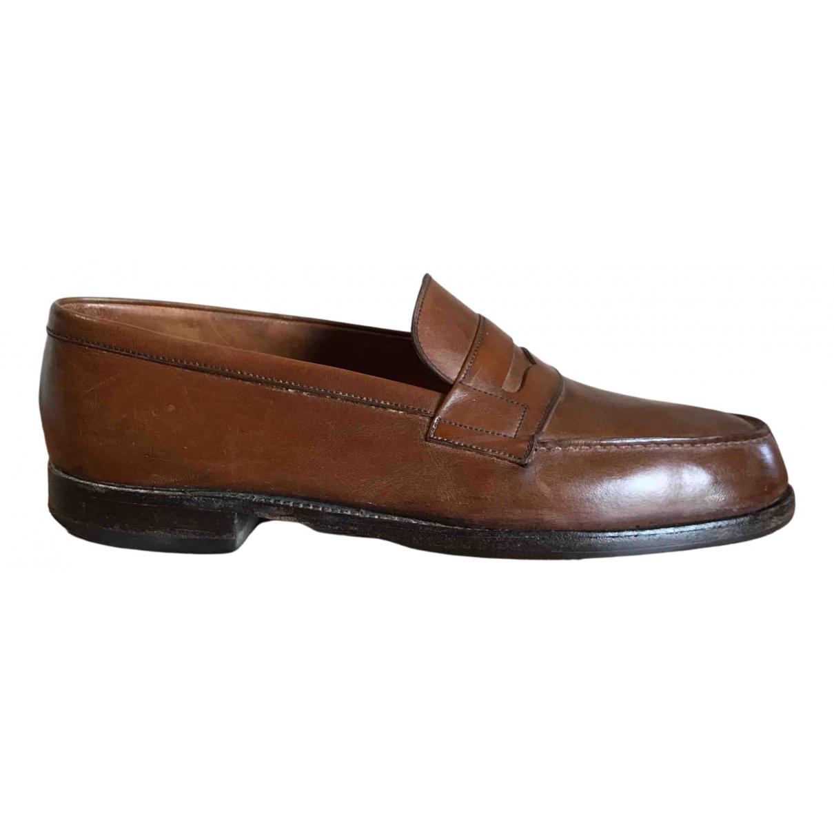 Jm Weston - Mocassins   pour homme en cuir - marron