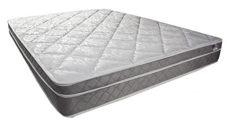 Kalina DM121EK-M 9 Euro Pillow Top Mattress - Eastern King with Quilting: 1 1/4 Quilted White Damask With Grey Quilted Border  Safety: 16 CFR Part