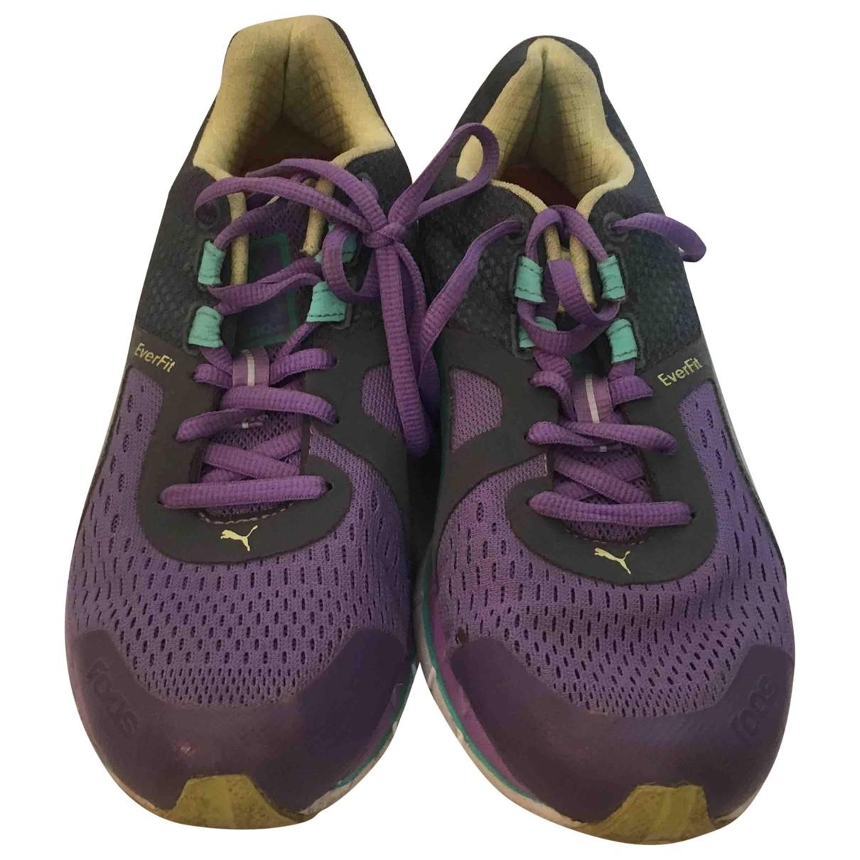 Puma - Baskets   pour femme en toile - violet