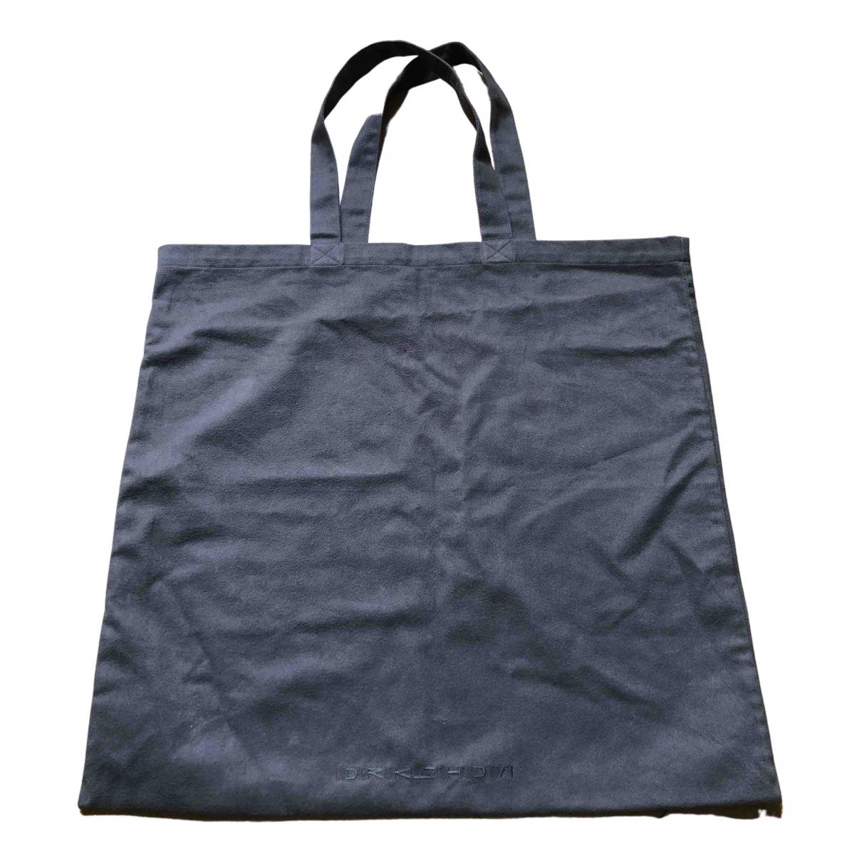 Rick Owens Drkshdw N Anthracite Cotton bag for Men N