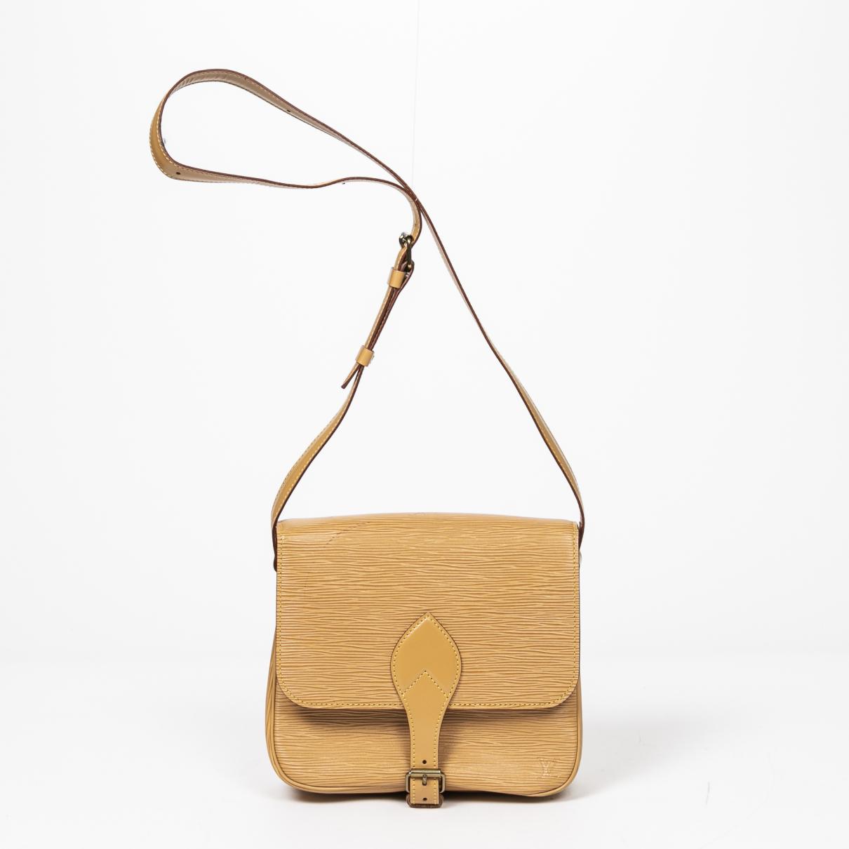 Louis Vuitton - Sac a main Cartouchiere pour femme en cuir - beige