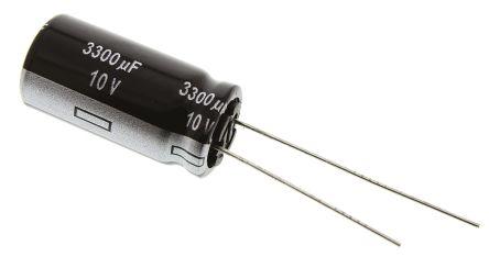 Panasonic 3300μF Electrolytic Capacitor 10V dc, Through Hole - EEUEB1A332 (5)