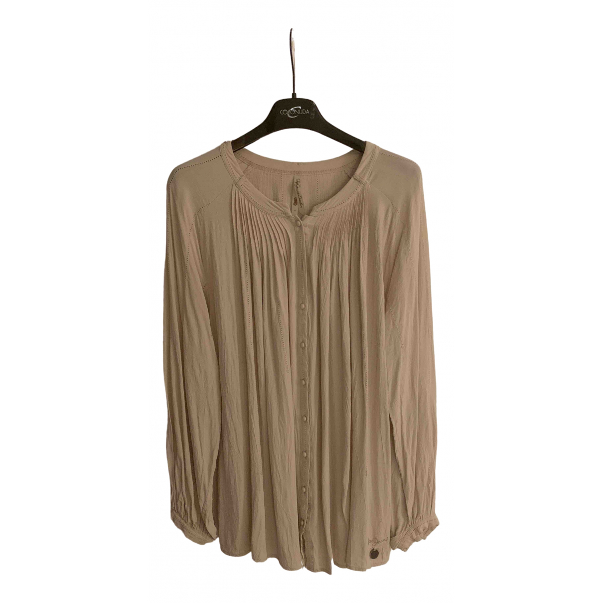 Non Signe / Unsigned \N Top in  Beige Synthetik