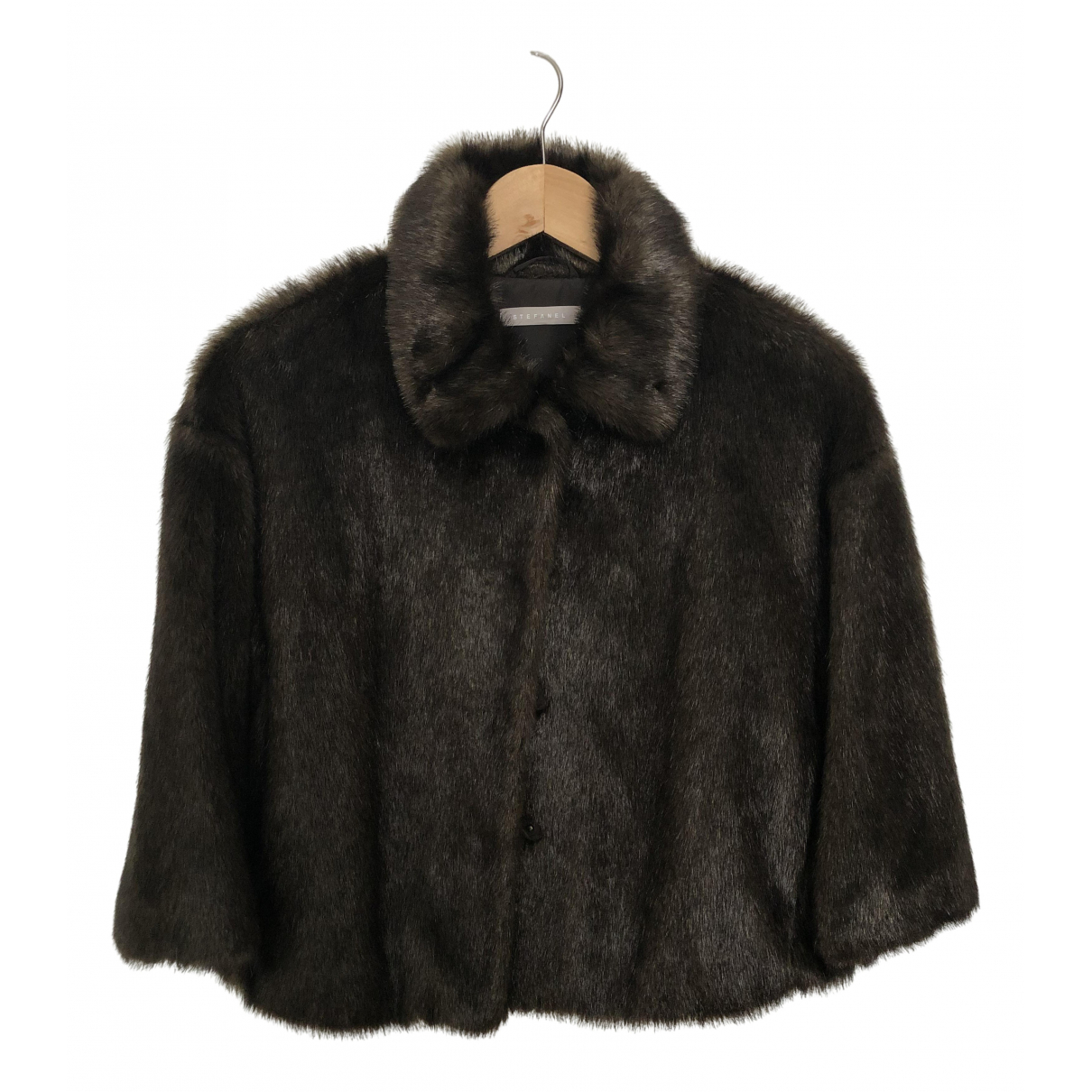 Stefanel \N Brown Faux fur jacket for Women S International