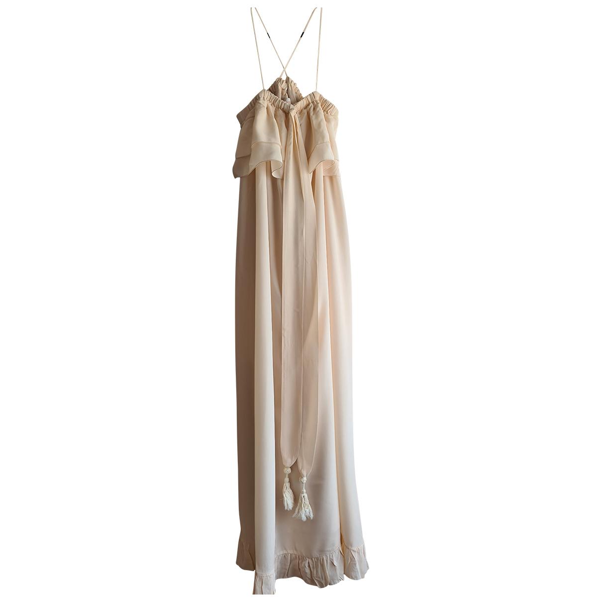 See By Chloe \N Kleid in  Beige Seide