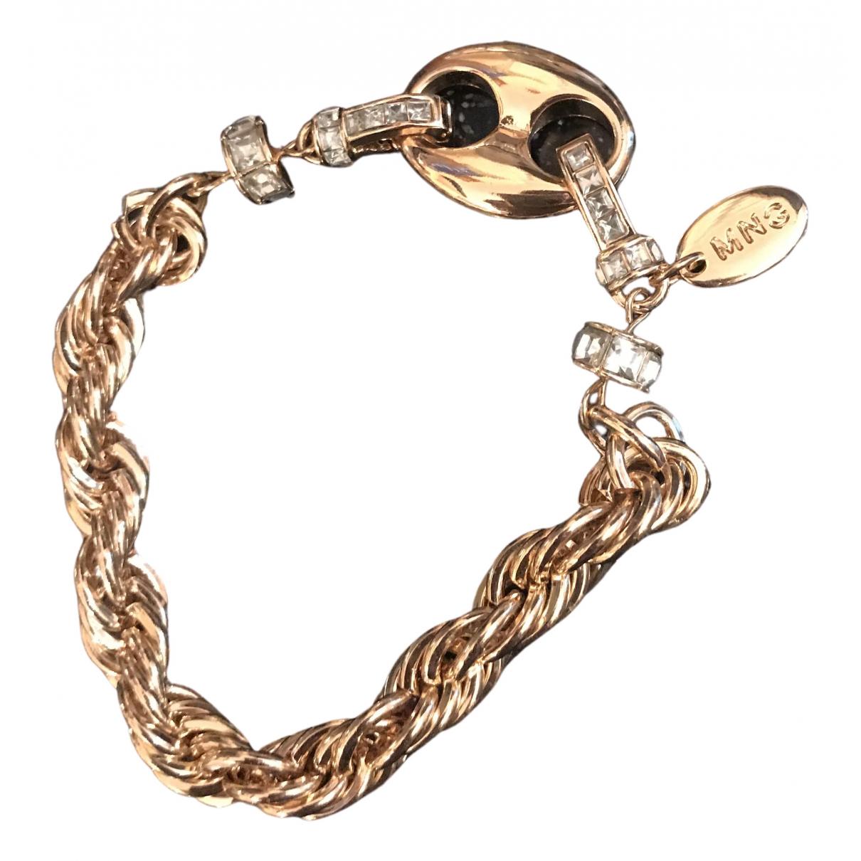 Mango - Bracelet   pour femme en chaine - dore