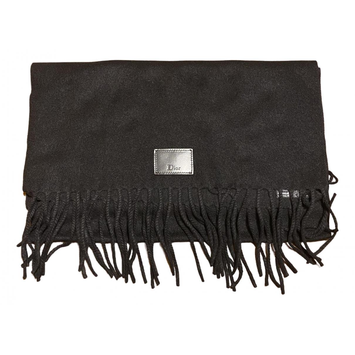 Dior - Foulard   pour femme en cachemire - noir