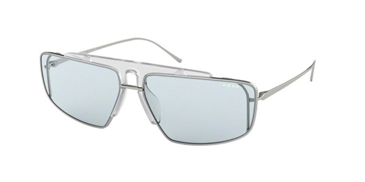 Prada PR50VS 3014Q2 Men's Sunglasses Silver Size 63