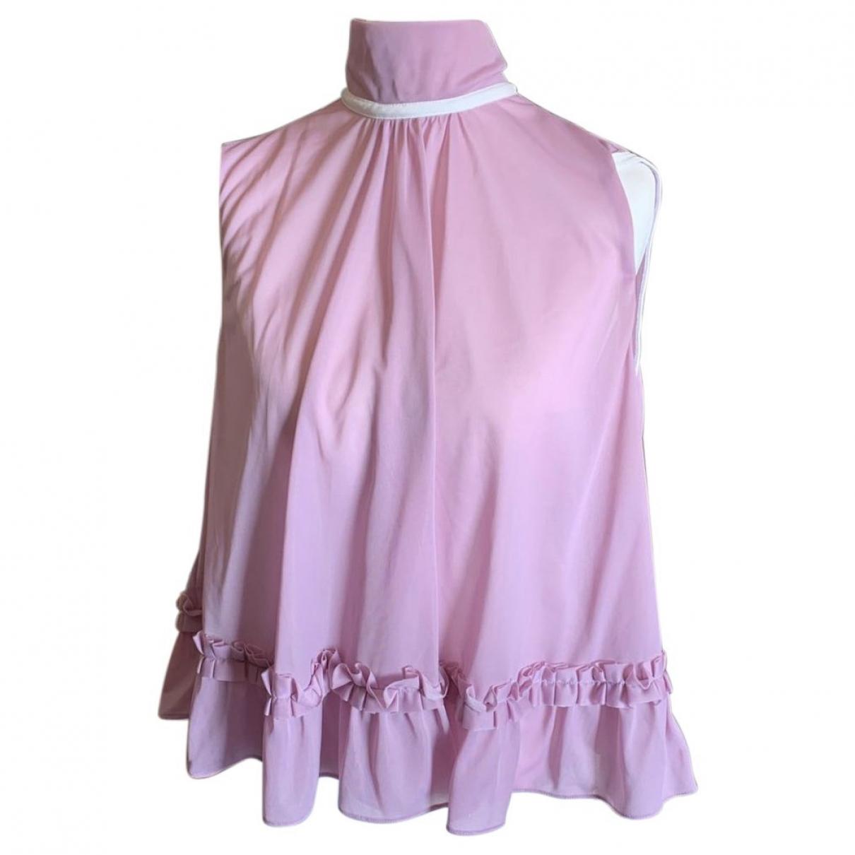 Miu Miu - Top   pour femme en coton - rose