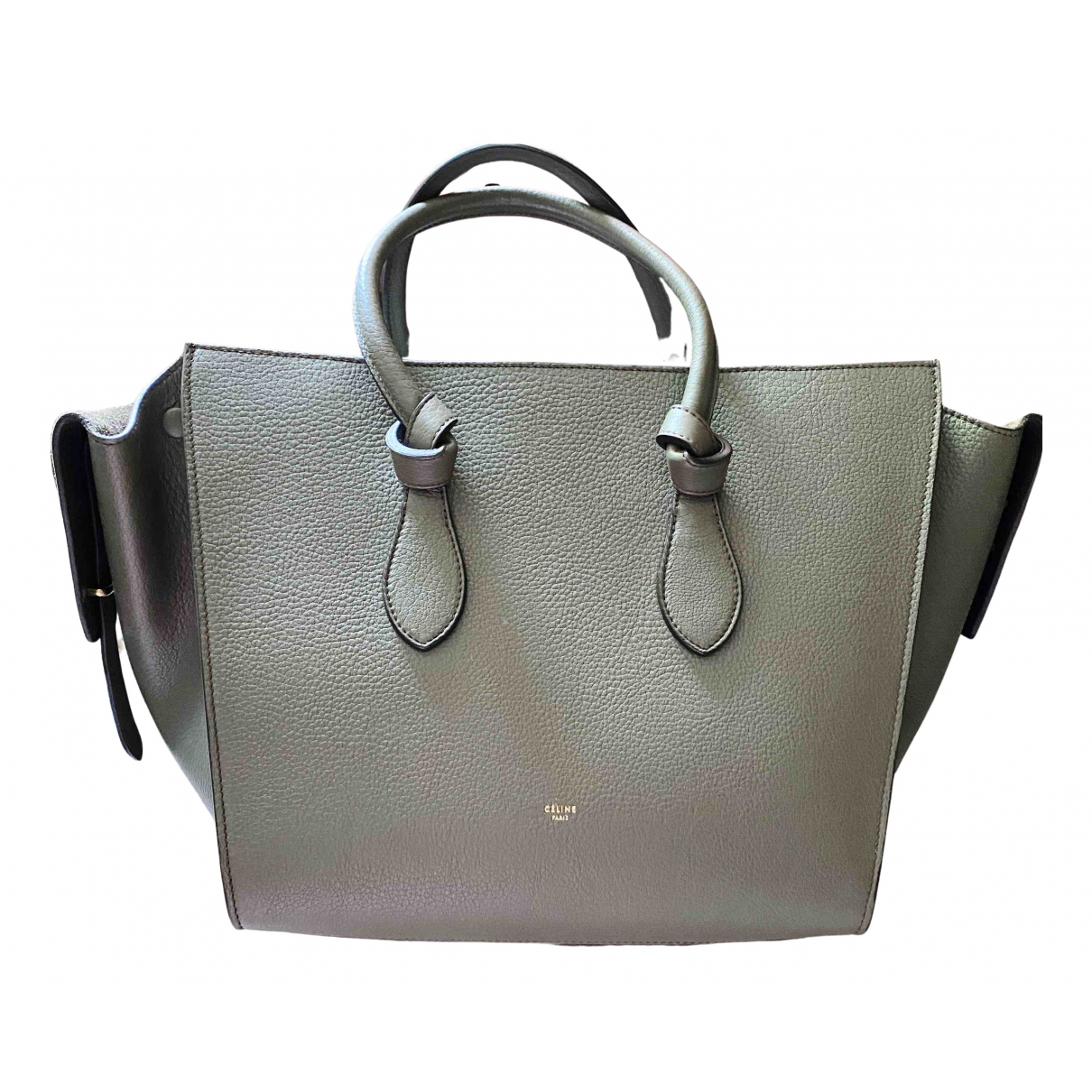 Celine Tie Handtasche in  Grau Leder