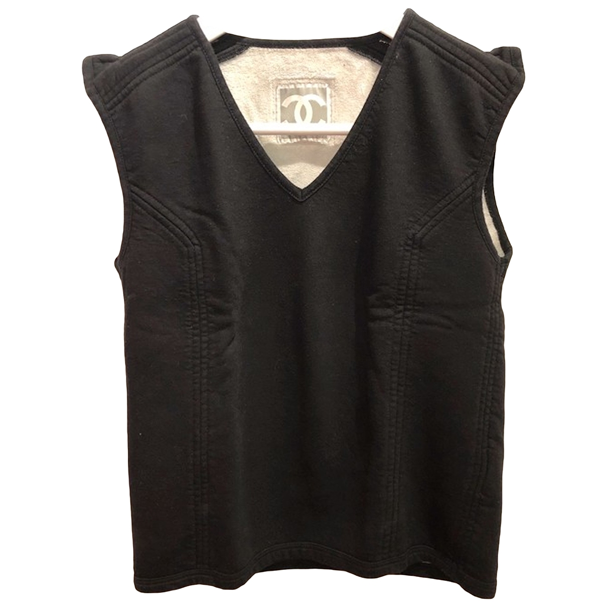 Chanel \N Black Cotton  top for Women 38 FR