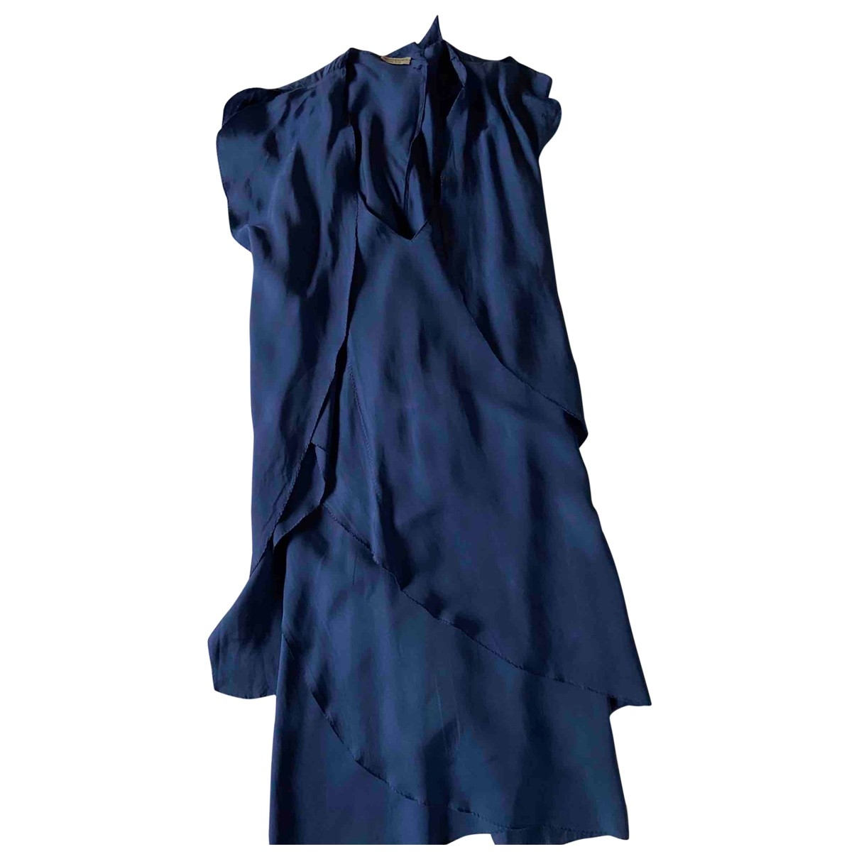 Bottega Veneta \N Kleid in  Blau Seide