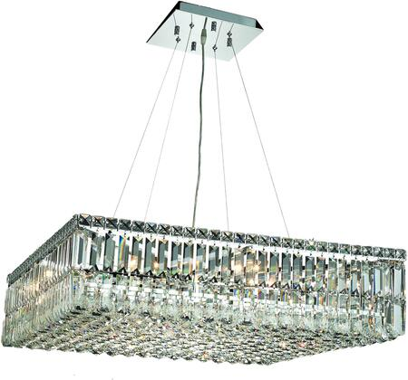 V2032D32C/SS 2032 Maxime Collection Chandelier L:32 In W:32In H:7.5In Lt:12 Chrome Finish (Swarovski   Elements