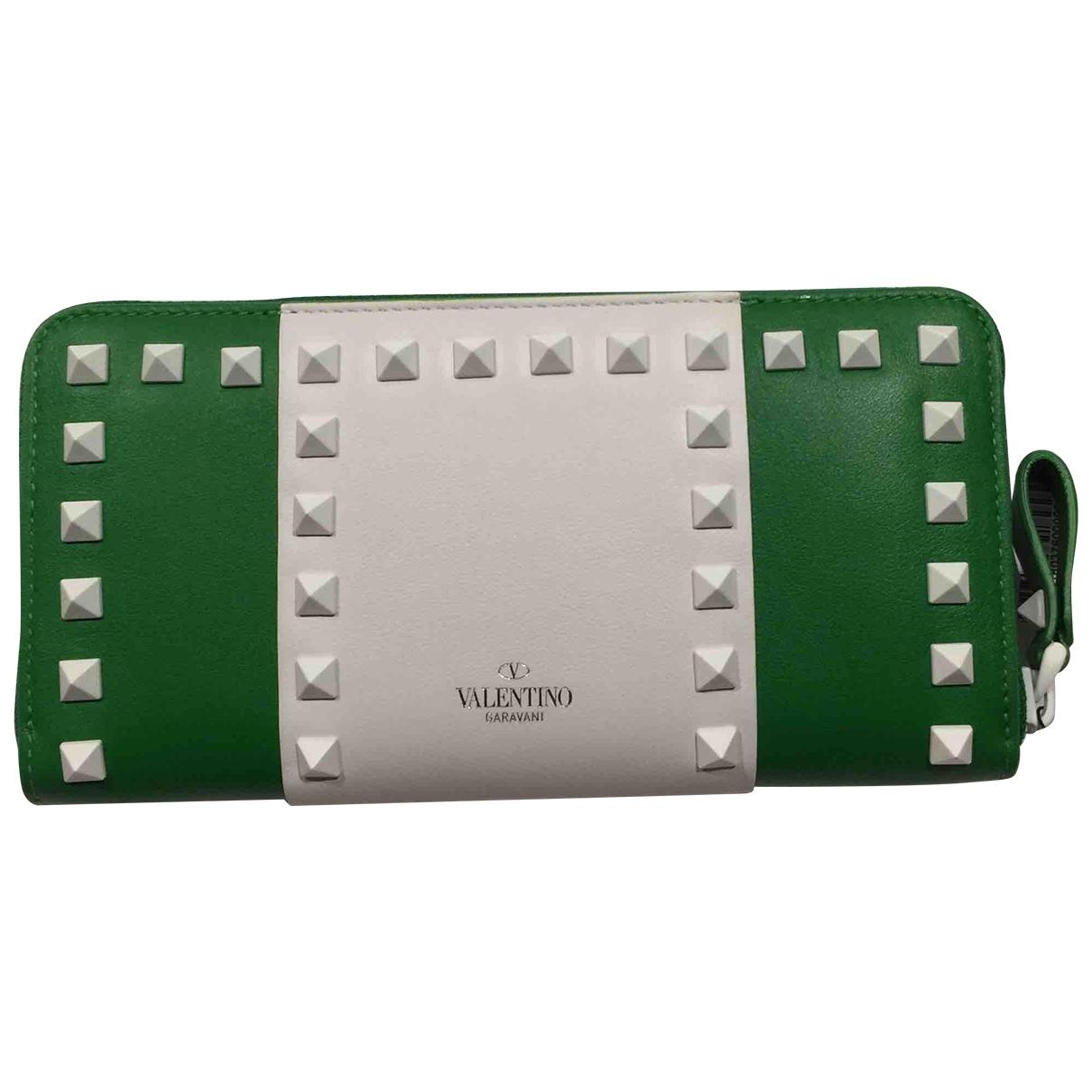 Valentino Garavani - Portefeuille   pour femme en cuir - vert