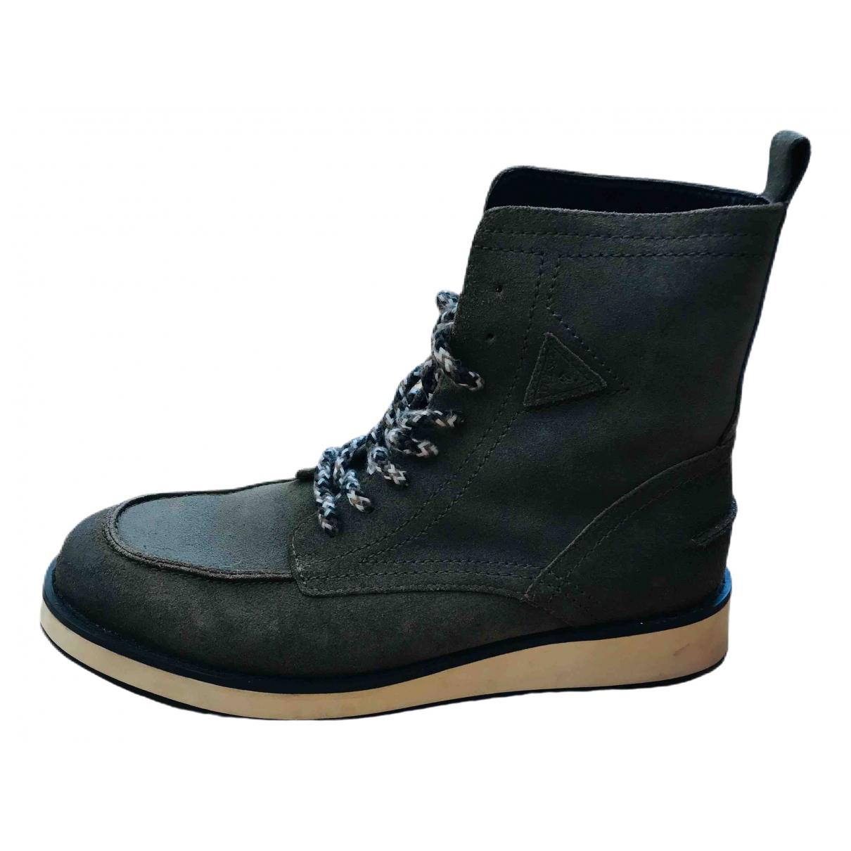 Guess \N Khaki Suede Boots for Men 44 EU