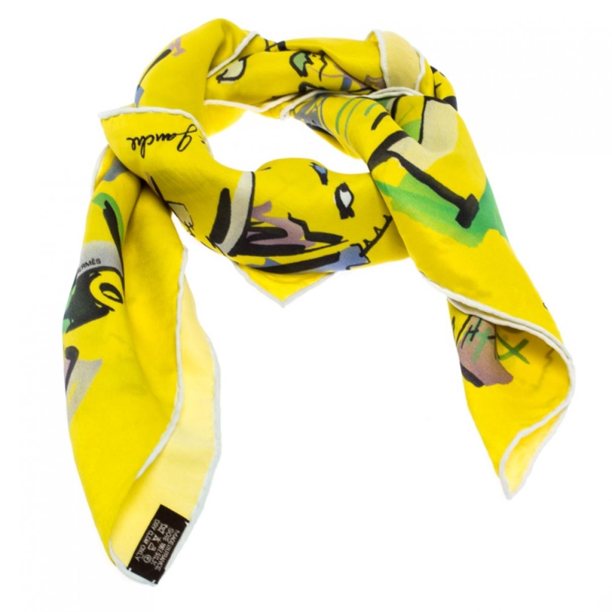 Hermes \N Schal in  Gelb Seide