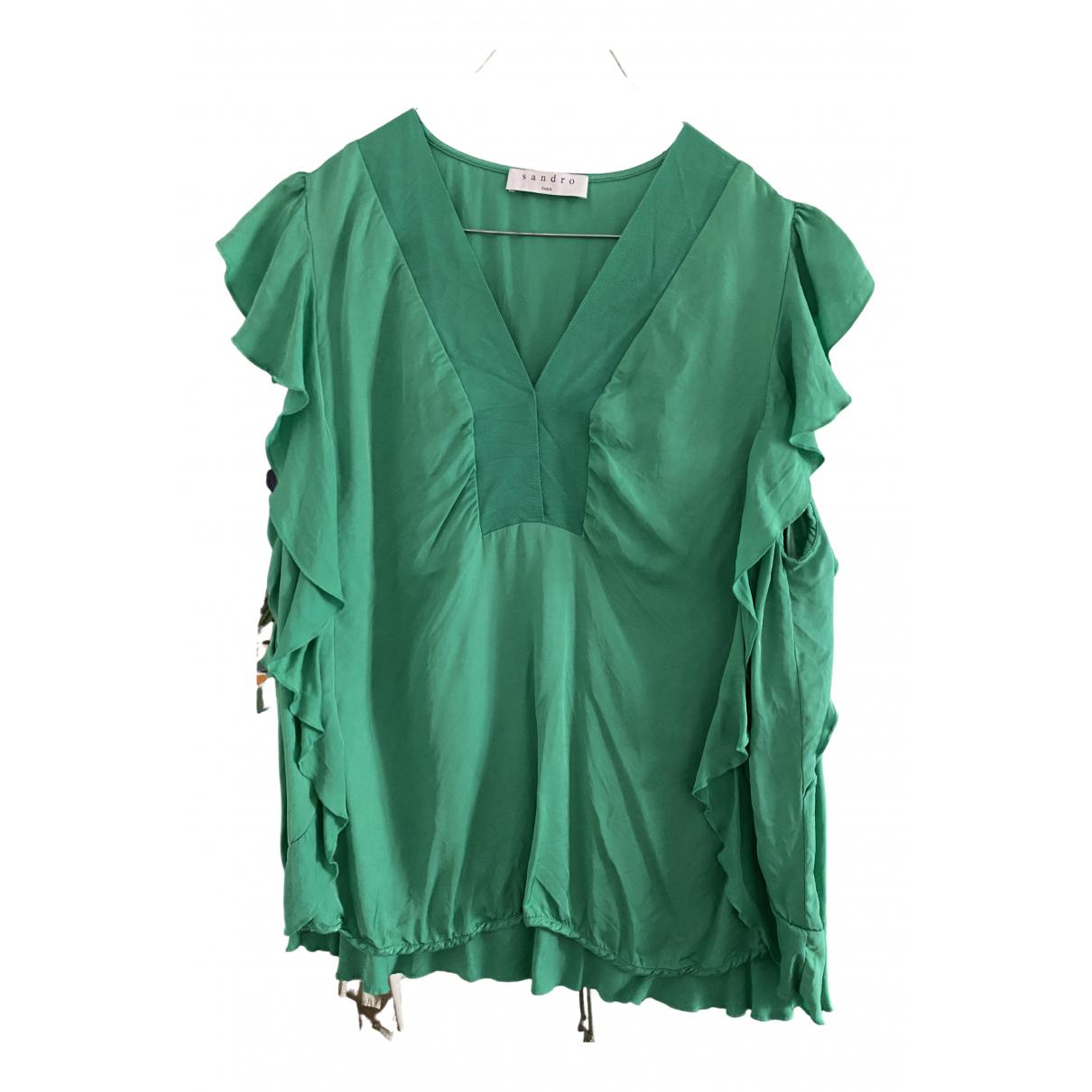 Sandro - Top   pour femme - vert
