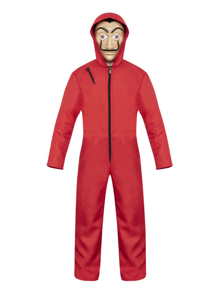Milanoo Money Heist Cosplay Dali Red La Casa De Papel Cosplay Jumpsuit For Kids
