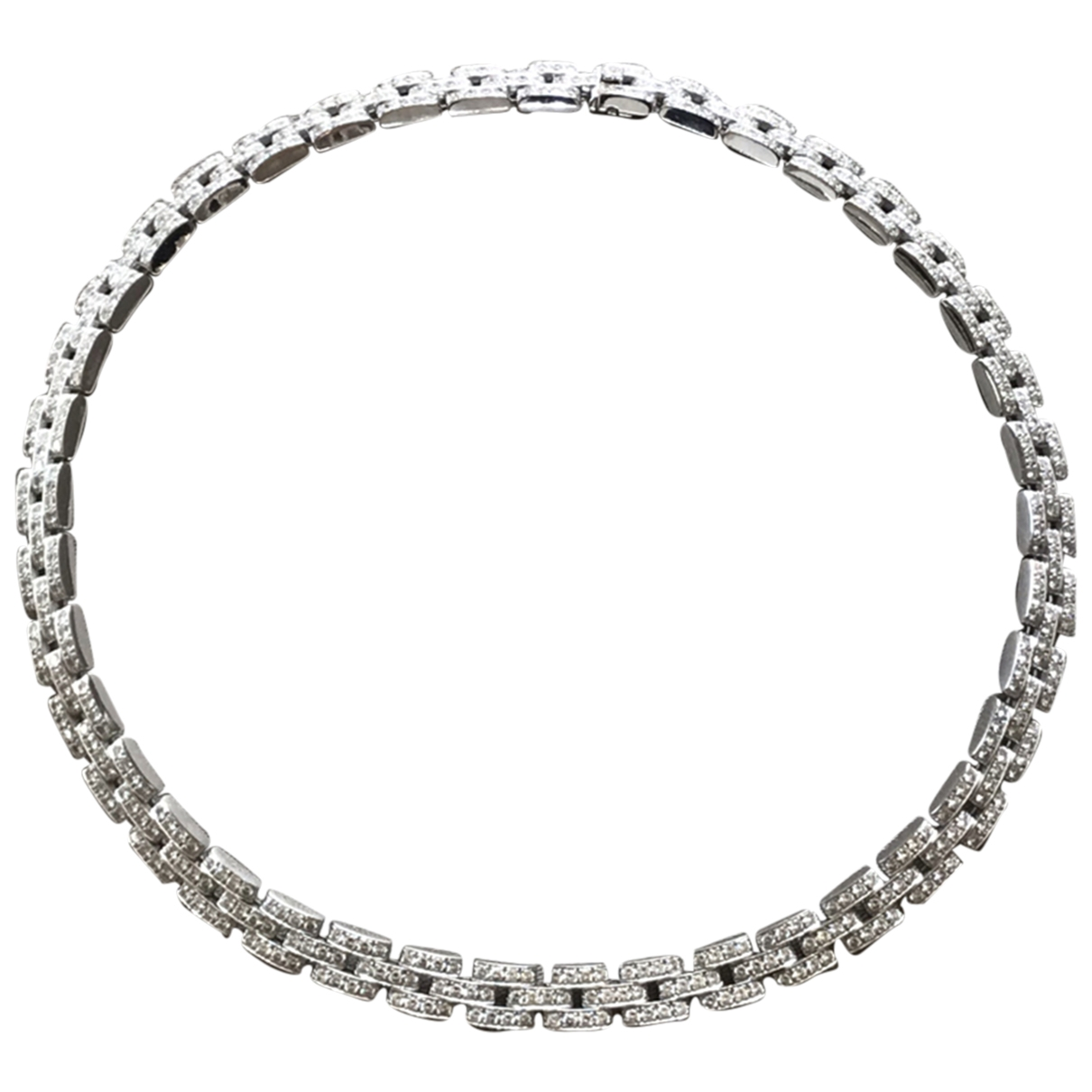 Cartier - Collier Panthere pour femme en or blanc - argente