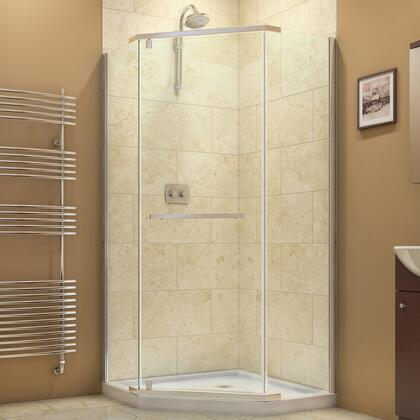 SHEN-2138380-04 Prism 38 1/8 In. X 38 1/8 In. X 72 In. Frameless Pivot Shower Enclosure In Brushed