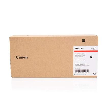 Canon PFI-706R cartouche d'encre originale rouge haute capacite