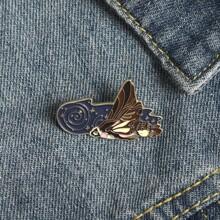 Schmetterling formige Brosche