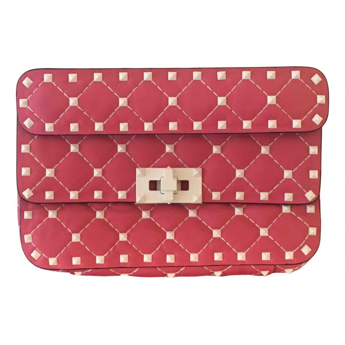 Valentino Garavani Rockstud spike Handtasche in  Rosa Leder