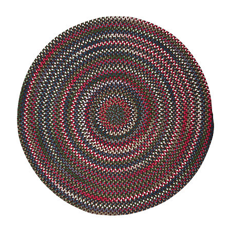 Colonial Mills American Pride Braided Round Reversible Indoor Rugs, One Size , Brown
