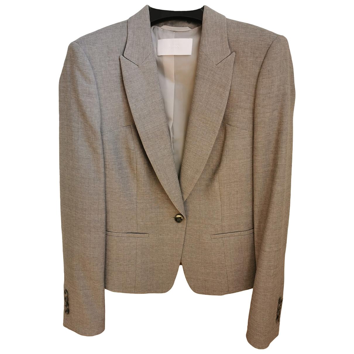 Boss \N Grey Wool jacket for Women 38 FR