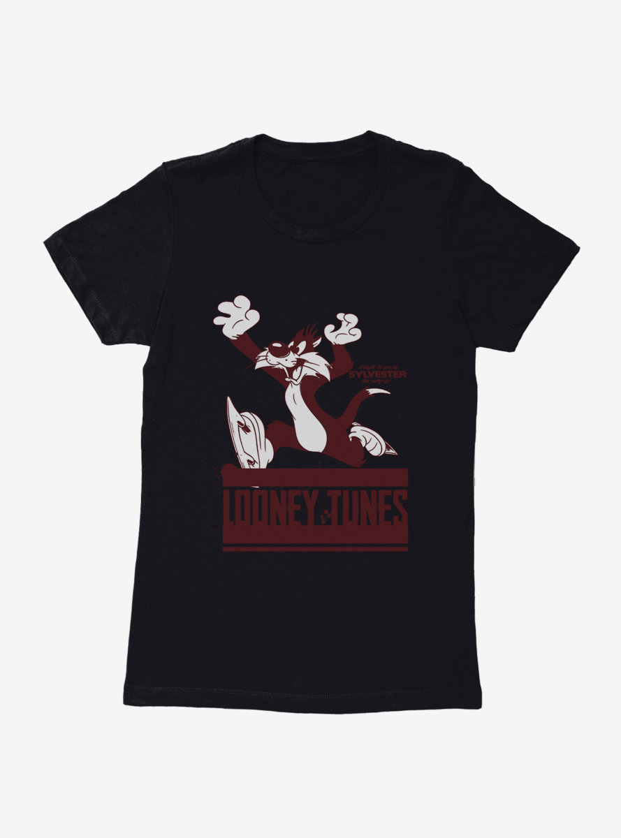 Looney Tunes Sylvester Ice Skating Womens T-Shirt