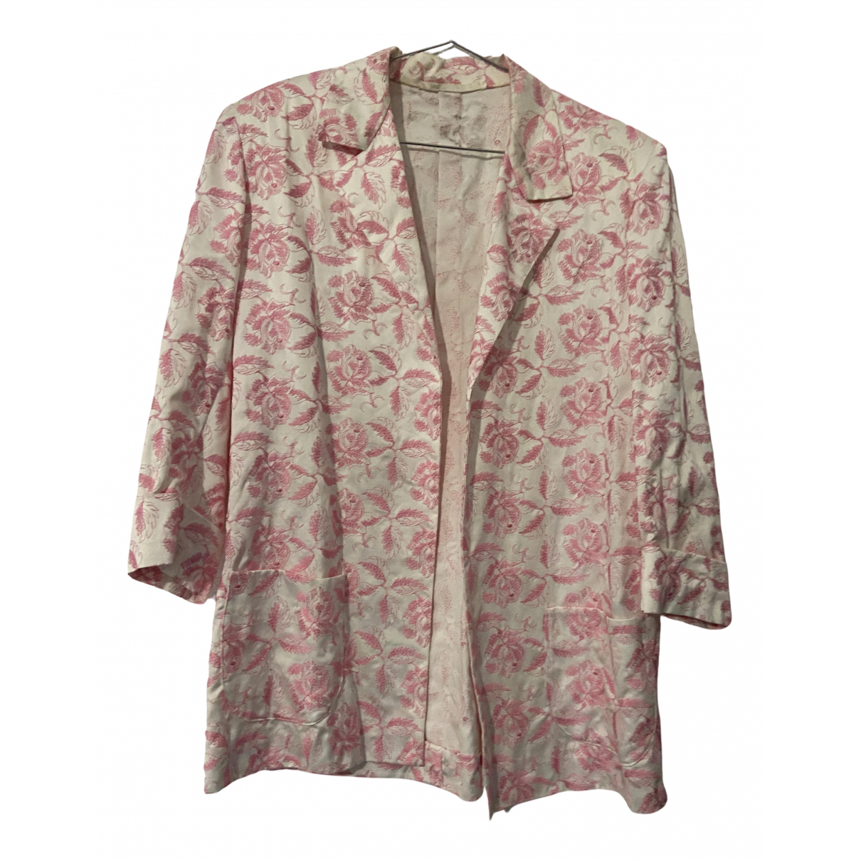 Non Signé / Unsigned N Pink Cotton jacket for Women M International