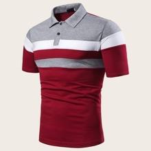 Camisa polo de hombres con costura
