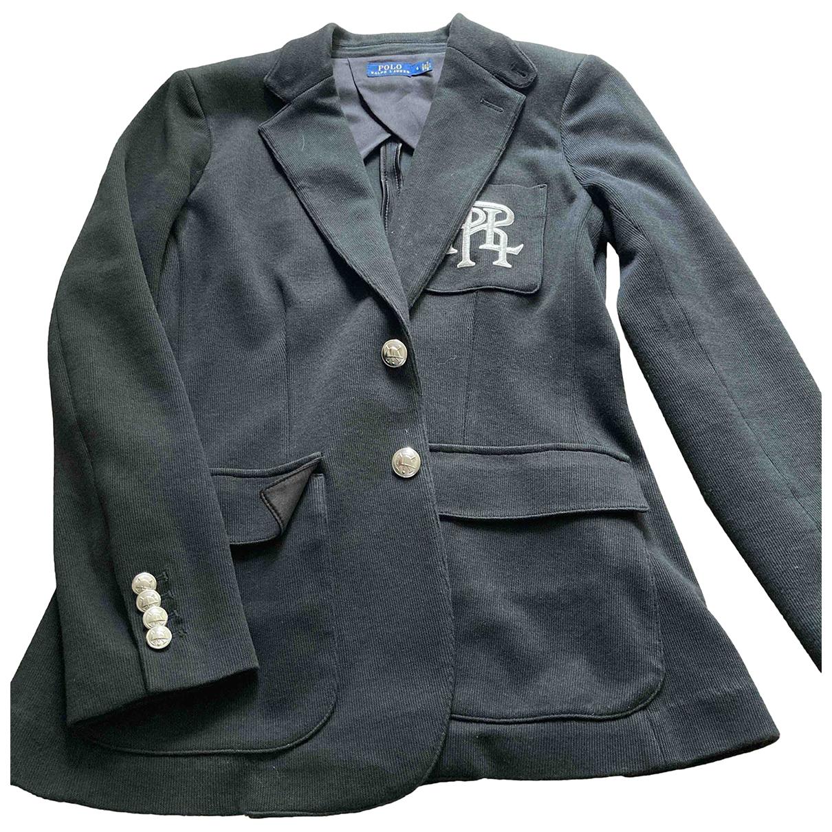 Polo Ralph Lauren \N Black Cotton jacket for Women 6 US