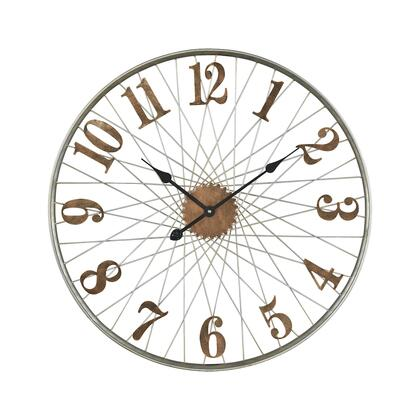 3205-003 Moriarty Wall Clock  In Grey  Brushed
