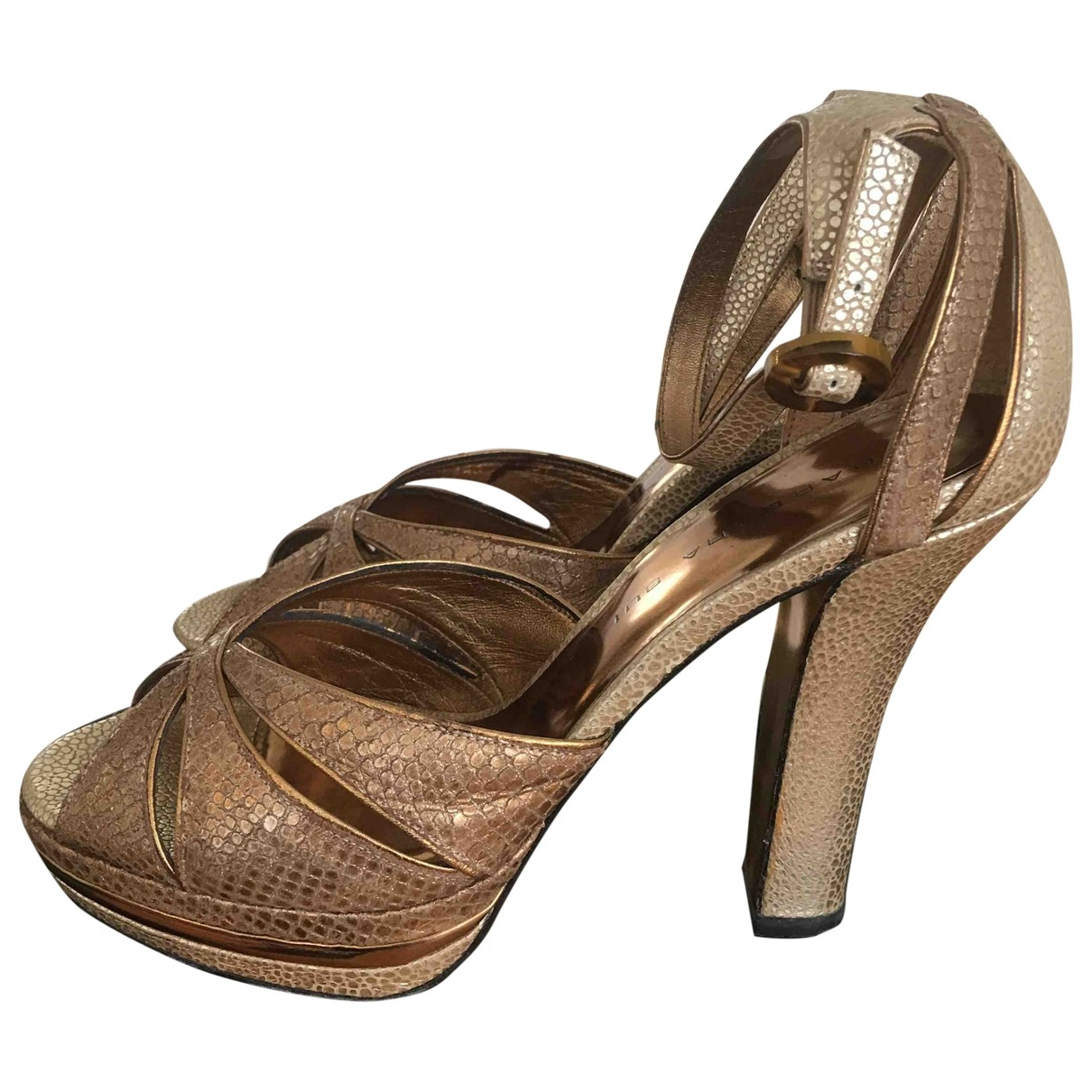 Barbara Bui \N Gold Exotic leathers Sandals for Women 37 EU