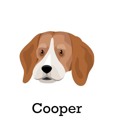Pet Canvas Print, 11x14, Home Décor -Beagle
