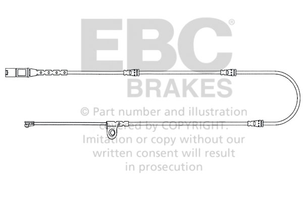 EBC Brakes EFA139 Wear Leads Front Disc Brake Pad Wear Sensor FMSI D1294